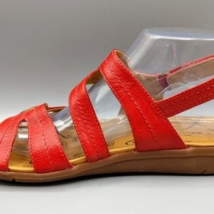 "BareTraps Shoes - BARE TRAPS ""Jollity"" Red Strappy Sandals 8.5"